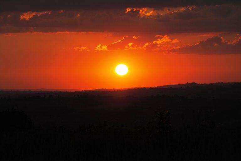 Coucher de soleil sur Brasc