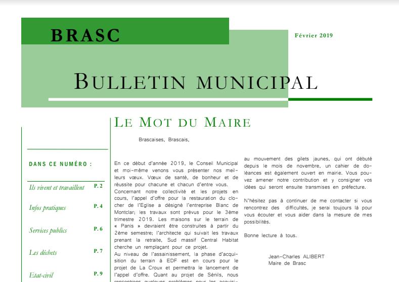 Vignette Bulletin Municipal Brasc 2019